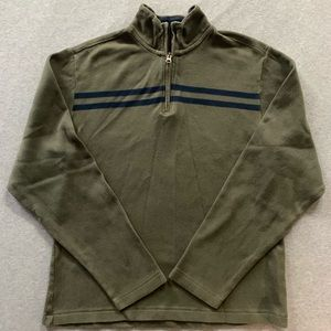 Old Navy Olive Half Zip Fleece Pullover